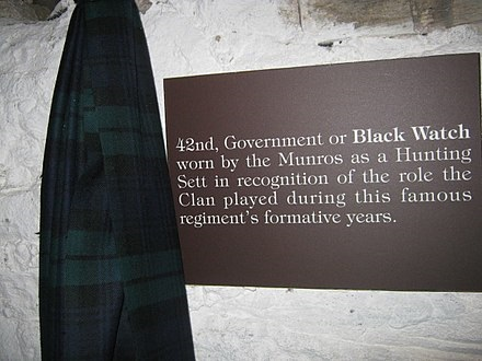 Black Watch tartan in the Clan Munro exhibition at the Storehouse of Foulis